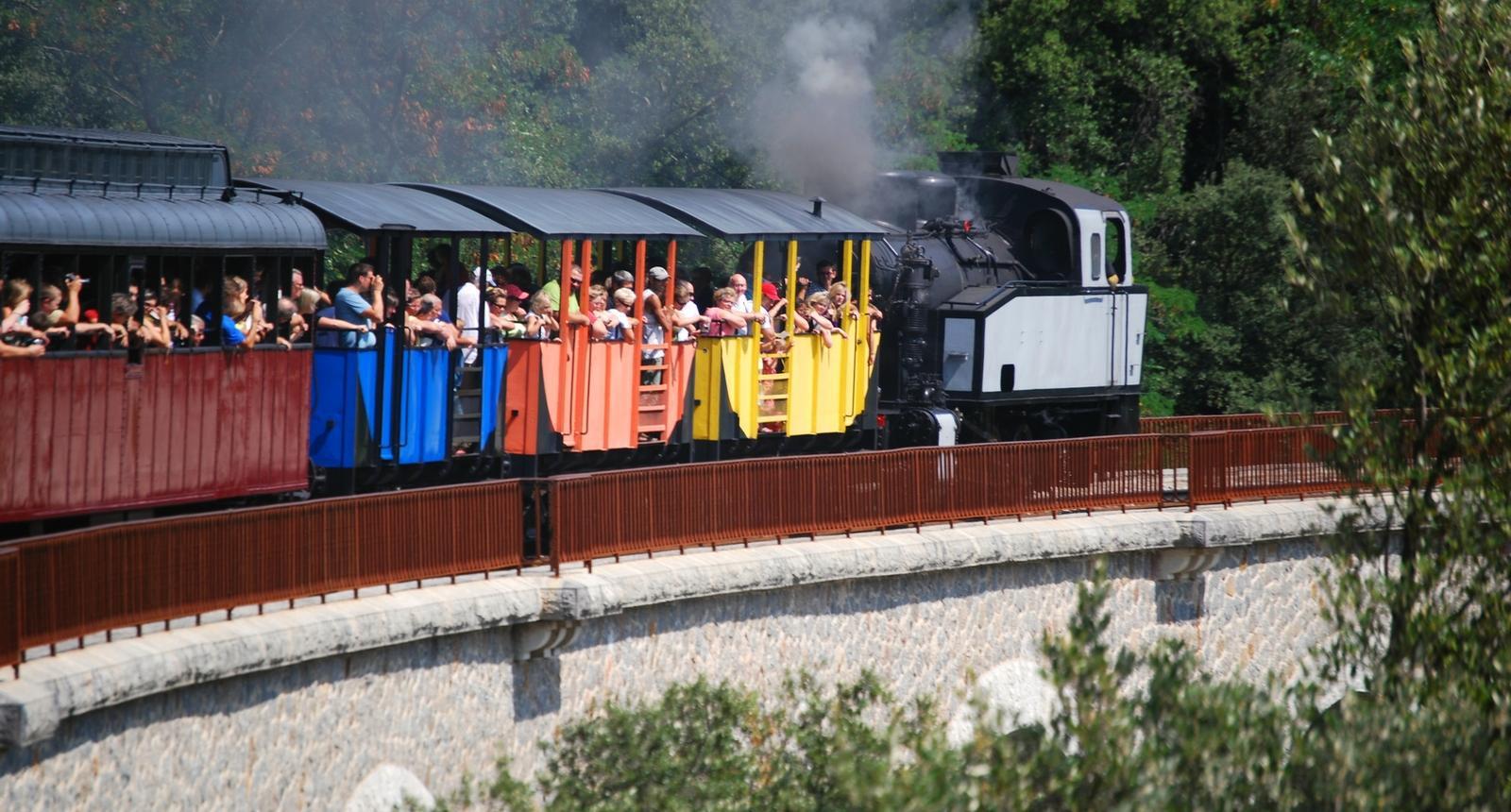 Petit train à vapeur d'anduze